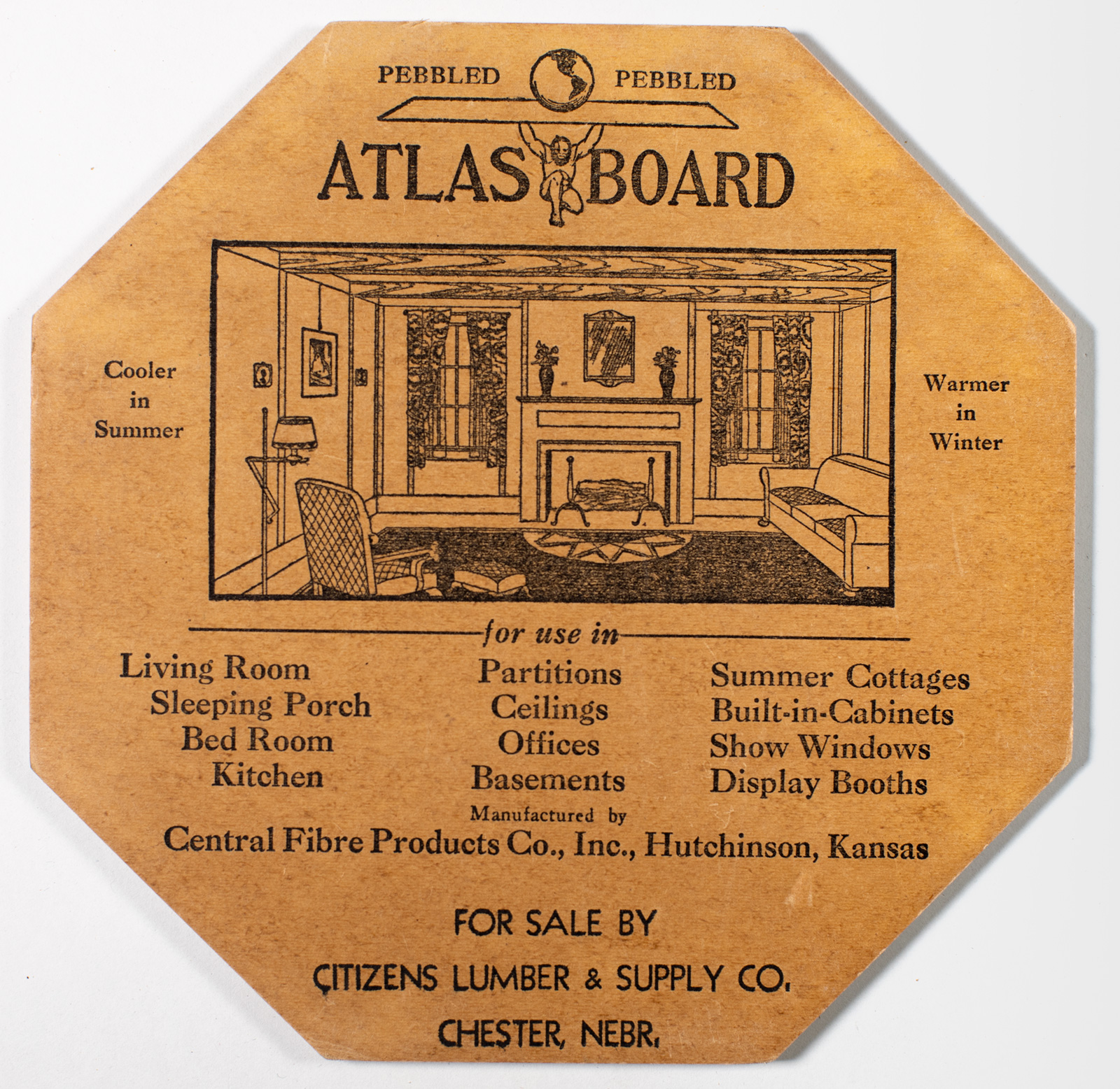 Atlas Board Sample Piece from Citizens Lumber Image