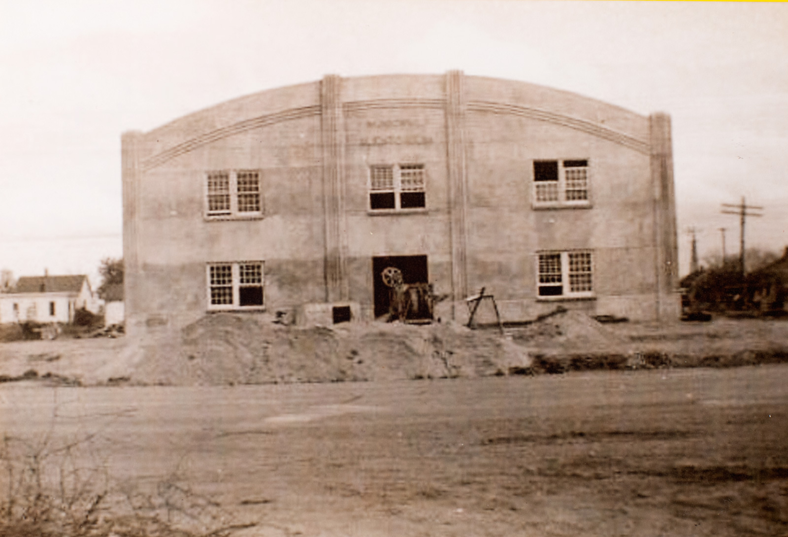 Chester Nebraska Auditorium Photo of Construction Image
