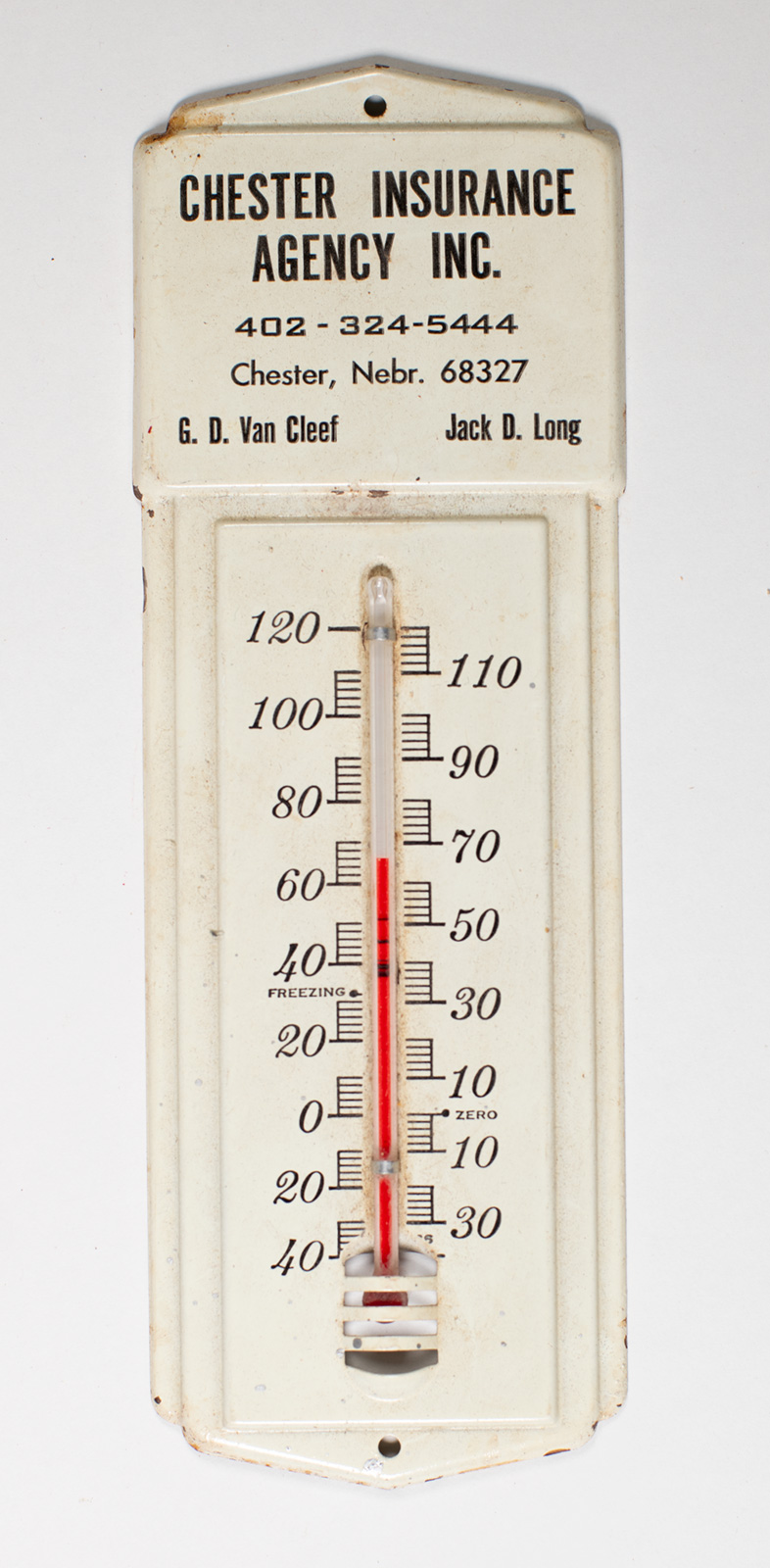 Chester Insurance Agency Thermometer Image