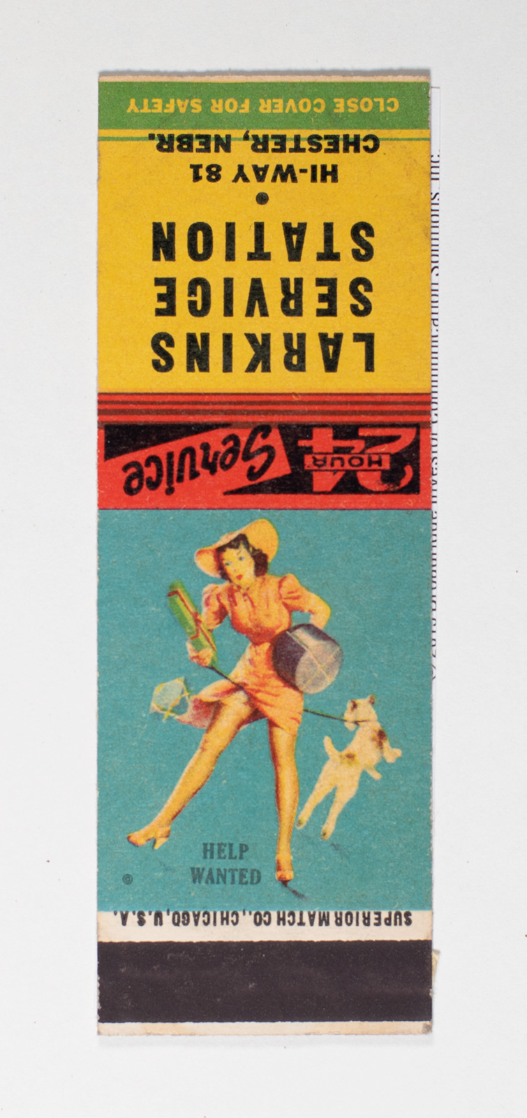 Larking Service Station Matchbook Cover Image