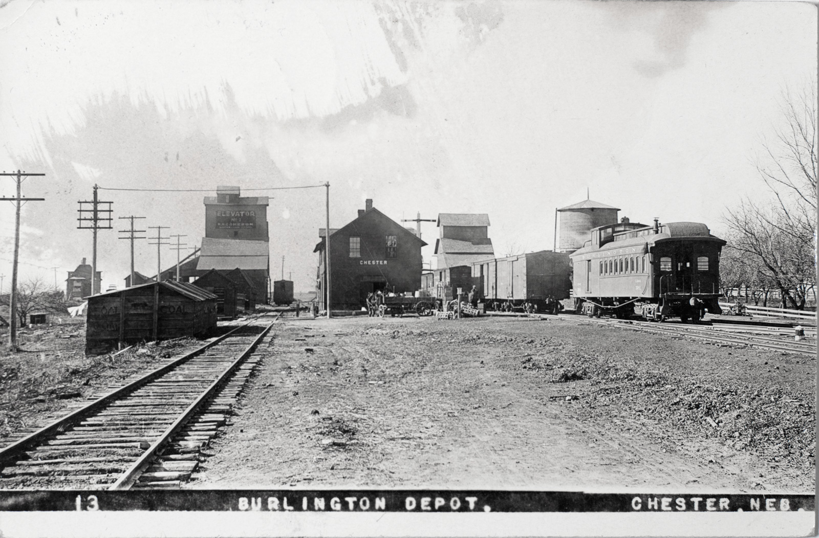 Burlington Depot in Chester Nebraska 1910 Image