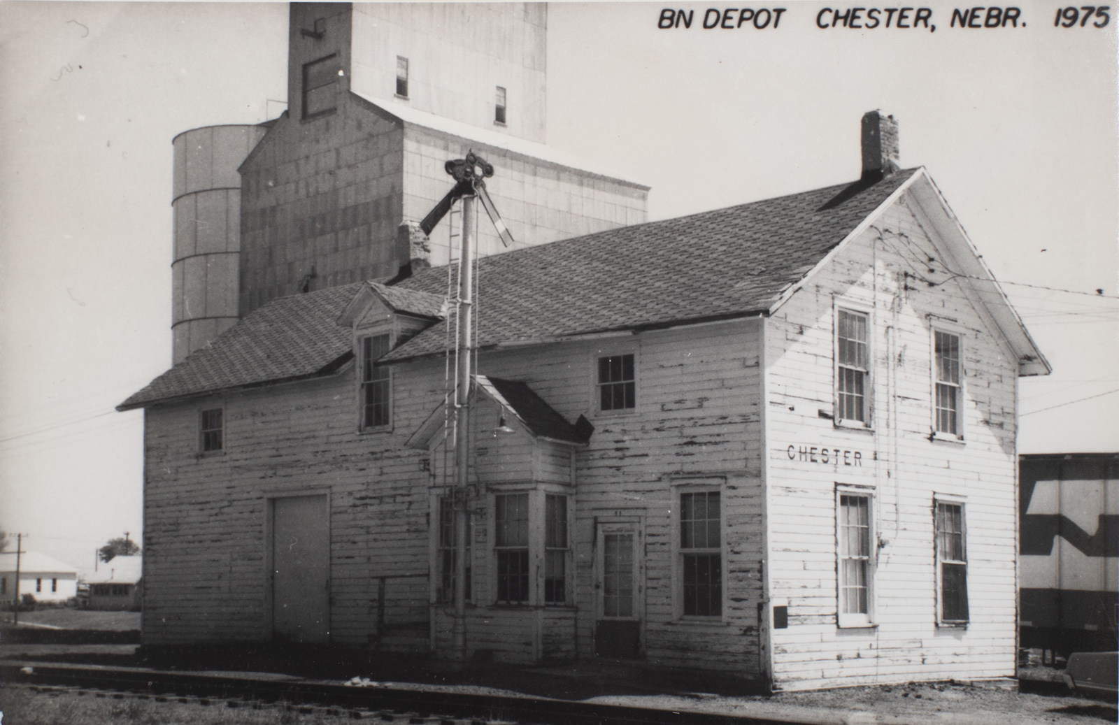 Burlington Northern Depot in Chester Nebraska - 1975 Image
