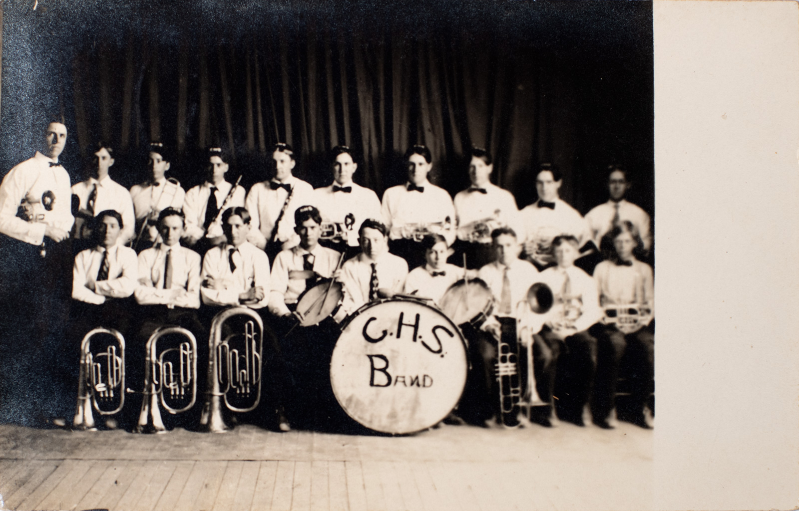 Chester High School Band 1910 - Postcard Image