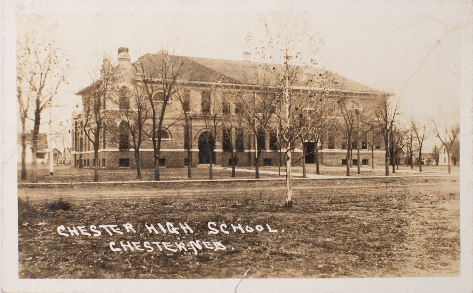 Chester High School postcard - 1910 Image