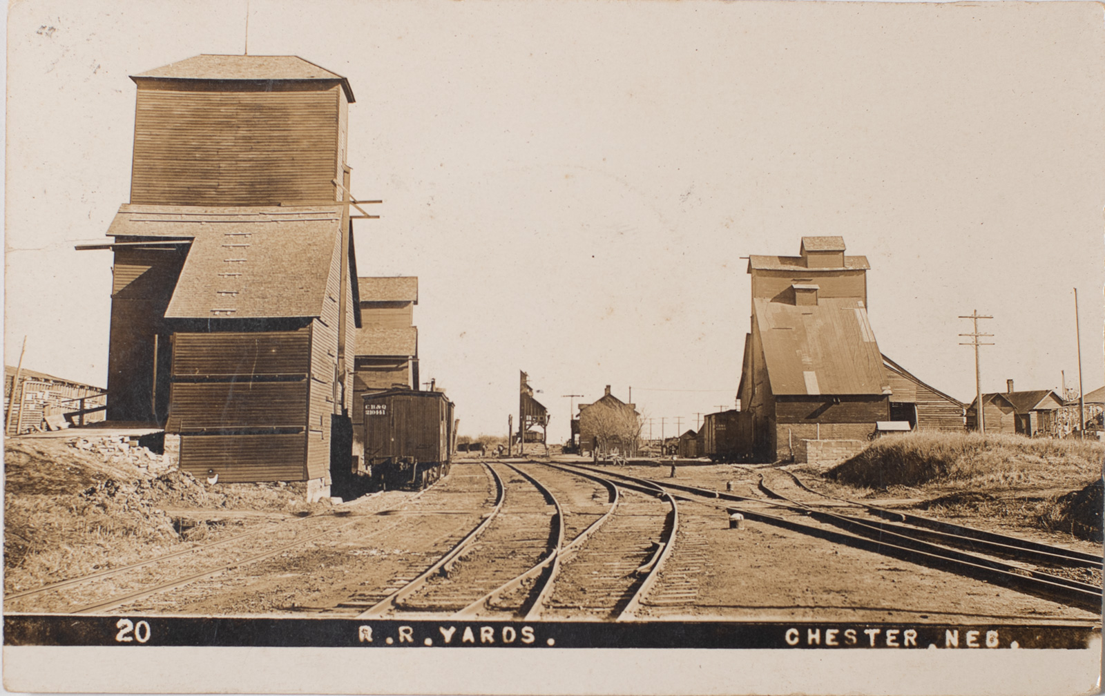 Chester Nebraska Burlington Depot 1910 Image
