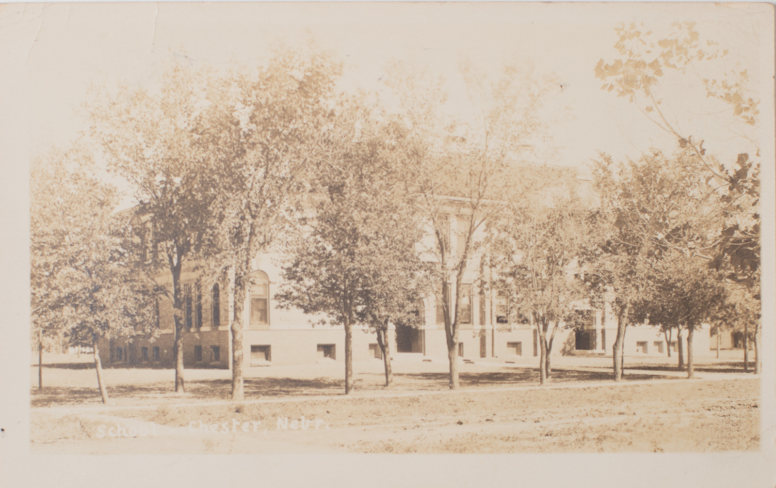 Chester Nebraska School - postcard 1924 Image