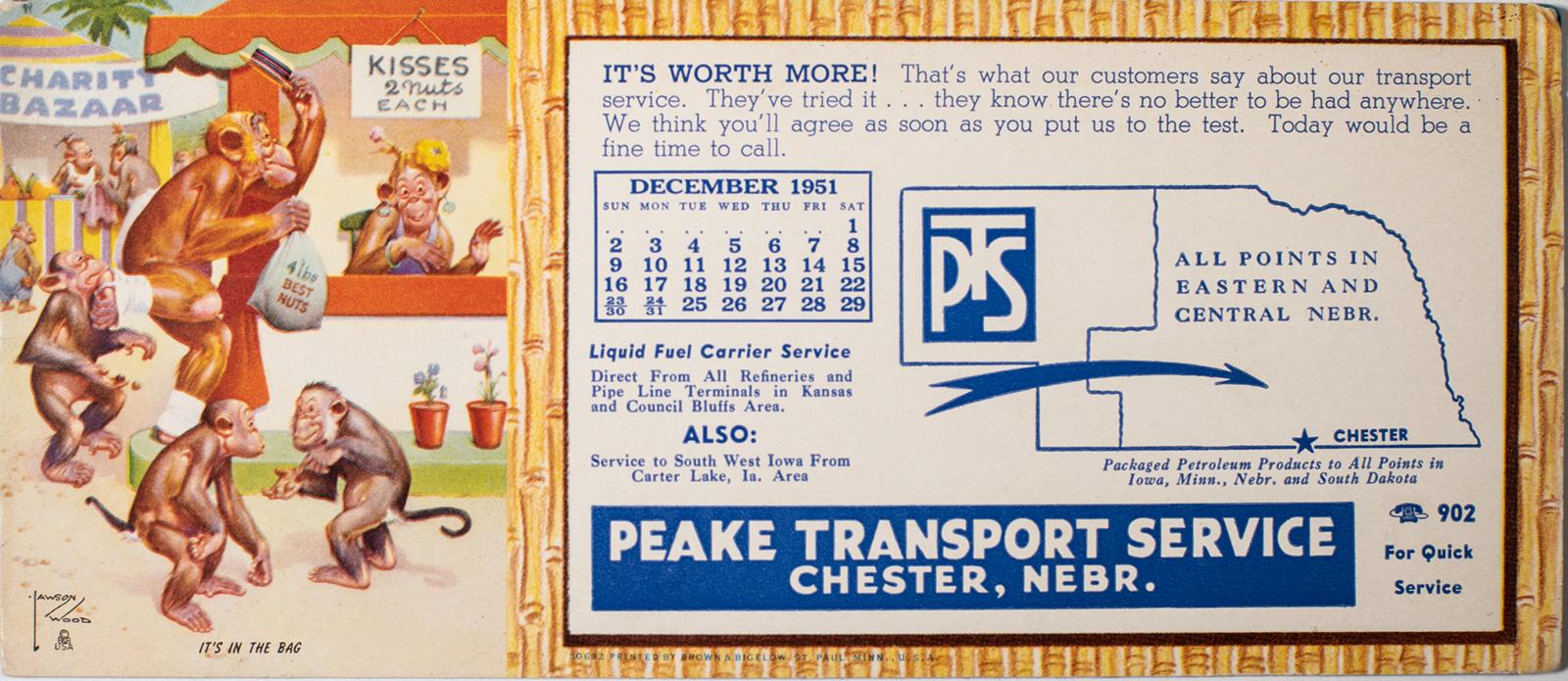 Peake Transport Blotter Pad & Calendar Image
